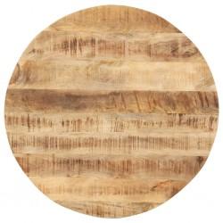 stradeXL Blat stołu, lite drewno mango, okrągły, 15-16 mm, 50 cm
