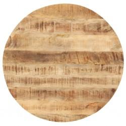 stradeXL Blat stołu, lite drewno mango, okrągły, 25-27 mm, 80 cm
