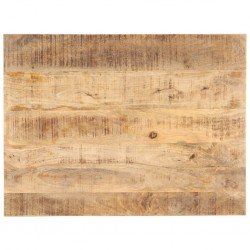stradeXL Blat stołu, lite drewno mango, 25-27 mm, 80x70 cm