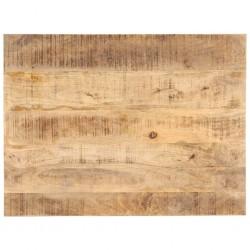 stradeXL Blat stołu, lite drewno mango, 25-27 mm, 90x70 cm