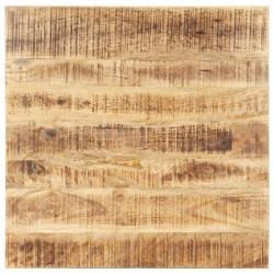 stradeXL Blat stołu, lite drewno mango, 25-27 mm, 80x80 cm