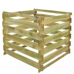 stradeXL Kompostownik z listew 0,54 m3, kwadratowy, drewno