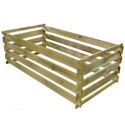 stradeXL Kompostownik, impregnowane drewno sosnowe, 160x80x58 cm