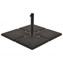 stradeXL Umbrella Weight Plate Black Concrete Square 12 kg
