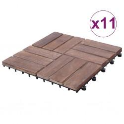 stradeXL Płytki tarasowe, 11 szt., 30x30 cm, lite drewno z odzysku