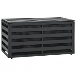 stradeXL Skrzynia ogrodowa z aluminium, 100 x 50 x 50 cm, antracytowa