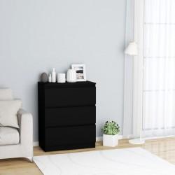 stradeXL Komoda, czarna, 60x35,5x76 cm, płyta wiórowa