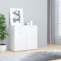 stradeXL Szafka na wysoki połysk, biała, 80x36x75 cm, płyta wiórowa