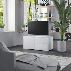 stradeXL Szafka pod TV, biała, 80x34x36 cm, płyta wiórowa