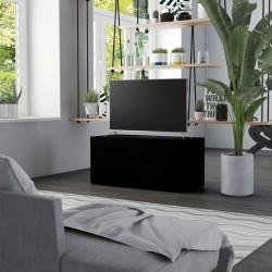stradeXL Szafka pod TV, czarna, 80x34x36 cm, płyta wiórowa