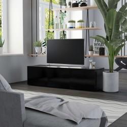stradeXL Szafka pod TV, czarna, 120x34x30 cm, płyta wiórowa
