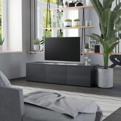 stradeXL Szafka pod TV, szarość betonu, 120x34x30 cm, płyta wiórowa