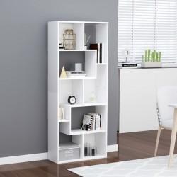 stradeXL Regał na książki, biały, 67x24x161 cm, płyta wiórowa
