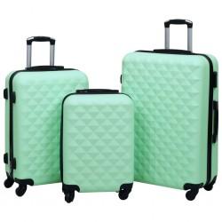 stradeXL Zestaw twardych walizek na kółkach, 3 szt., miętowy, ABS