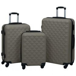 stradeXL Hardcase Trolley Set 3 pcs Anthracite ABS