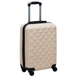 stradeXL Twarda walizka na kółkach, złota, ABS