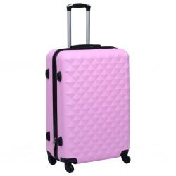 stradeXL Twarda walizka na kółkach, różowa, ABS