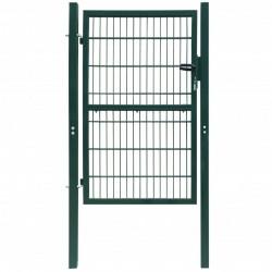 2D Bramka ogrodowa pojedyncza Zielona 106 x 190 cm