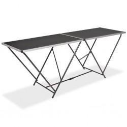 stradeXL Składany stół do tapetowania, MDF i alumnium, 200x60x78 cm