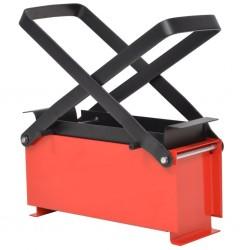 stradeXL Brykieciarka do papieru, stalowa, 34x14x14 cm, czarno-czerwona