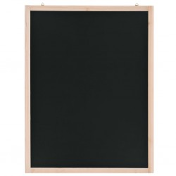 stradeXL Wall-Mounted Blackboard Cedar Wood 60x80 cm