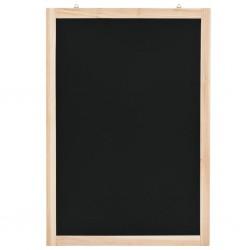 stradeXL Wisząca tablica kredowa, drewno cedrowe, 40 x 60 cm