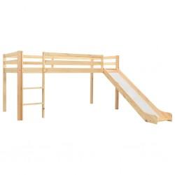 stradeXL Wysoka rama łóżka dziecięcego, zjeżdżalnia i drabinka, 97x208cm