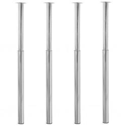 stradeXL Teleskopowe nogi do stołu, 4 szt., chromowane, 710-1100 mm
