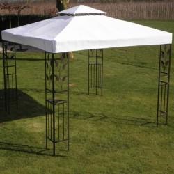 stradeXL Zadaszenie altany, białe, 3 x 3 m, tkanina