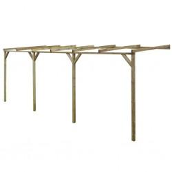 stradeXL Pergola przyścienna, 2 x 6 x 2,2 m, drewno