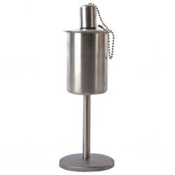 Esschert Design Oil Torch Standing Stainless Steel