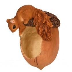 Esschert Design Karmnik wiszący, wiewiórka i żołądź, 14,2x10,8x20,1 cm