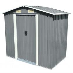stradeXL Garden Storage Shed Grey Metal 204x132x186 cm