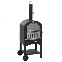 stradeXL Charcoal Fired Outdoor Pizza Oven with Fireclay Stone