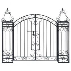 stradeXL Ozdobna brama ogrodowa z kutego żelaza, 122 x 20,5 x 100 cm