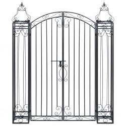 stradeXL Ozdobna brama ogrodowa z kutego żelaza, 122 x 20,5 x 160 cm