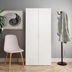 stradeXL Shoe Cabinet White 80x35.5x180 cm Chipboard