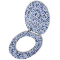 stradeXL Toilet Seat with MDF Lid Porcelain Design