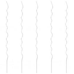 stradeXL Spiralne podpórki do roślin, 5 szt., 170 cm, stal galwanizowana