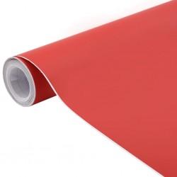 stradeXL Folia samochodowa, matowa, czerwona, 200x152 cm