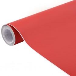stradeXL Folia samochodowa, matowa, czerwona, 500x152 cm