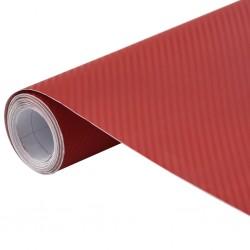 stradeXL Folia samochodowa, matowa, 3D, czerwona, 500x152 cm