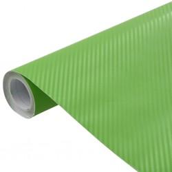 stradeXL Folia samochodowa, matowa, 3D, zielona, 500x152 cm