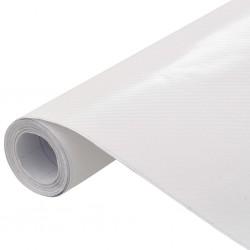stradeXL Folia samochodowa, matowa, 4D, biała, 500x152 cm
