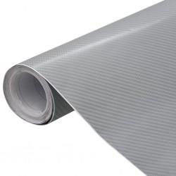 stradeXL Folia samochodowa, matowa, 4D, srebrna, 200x152 cm