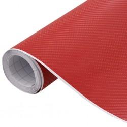 stradeXL Folia samochodowa, matowa, 4D, czerwona, 500x152 cm