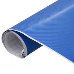 stradeXL Folia samochodowa, matowa, 4D, niebieska, 200x152 cm