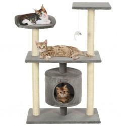 stradeXL Drapak dla kota ze sizalowymi słupkami, 95 cm, szary
