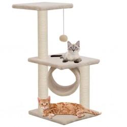 stradeXL Drapak dla kota z sizalowymi słupkami, 65 cm, beżowy