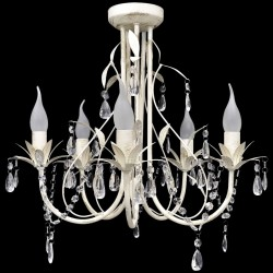 Crystal Pendant Ceiling Lamp Chandelier Elegant 5 Bulb Sockets